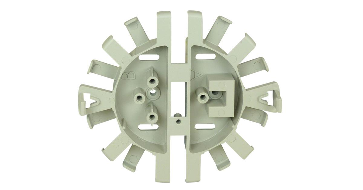 125-0928 Quick Release Fiber Spool PVC (Gray)