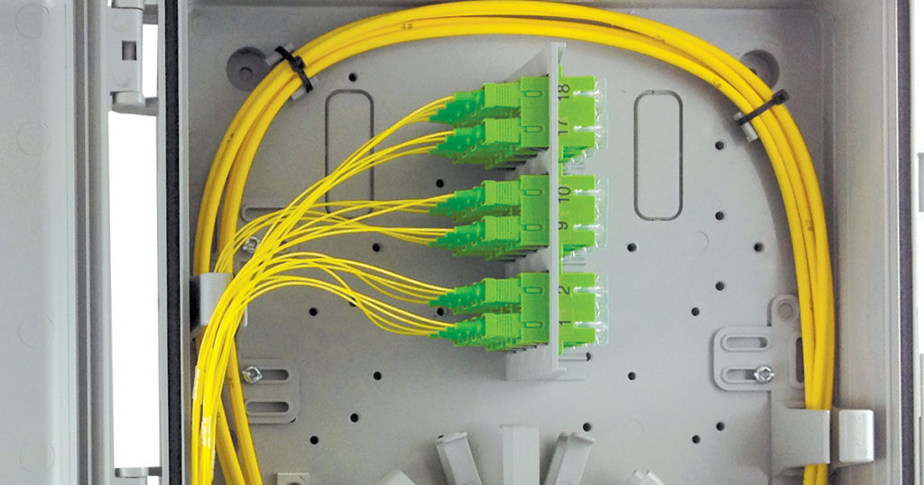 fiber in enclosure