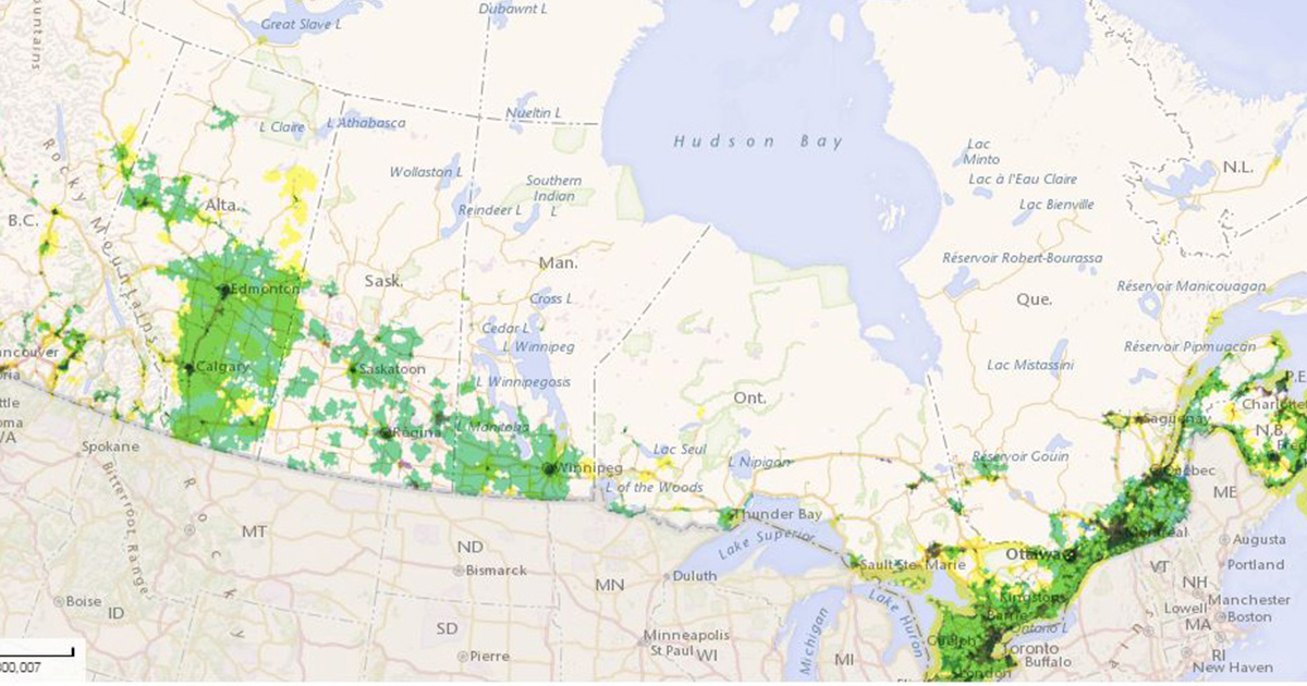 Crtc Broadband Availability Map Shows Digital Divide In Canada
