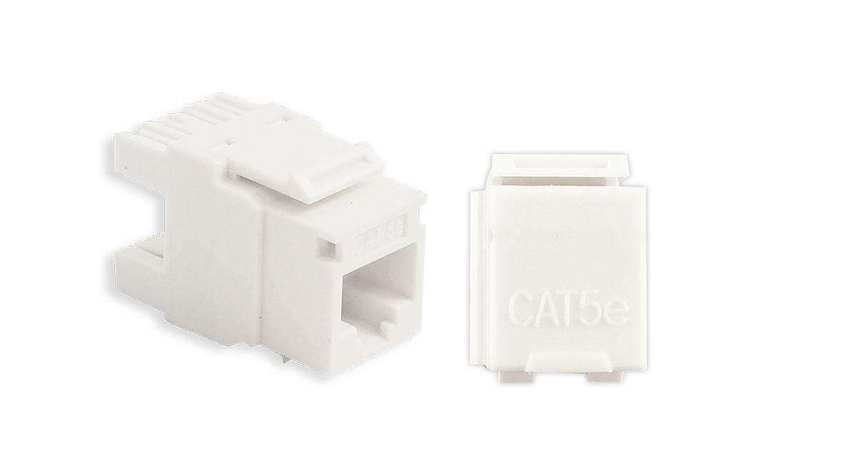 P/N 125-0948-WT - Cat5e, 110 IDC, 180° HD