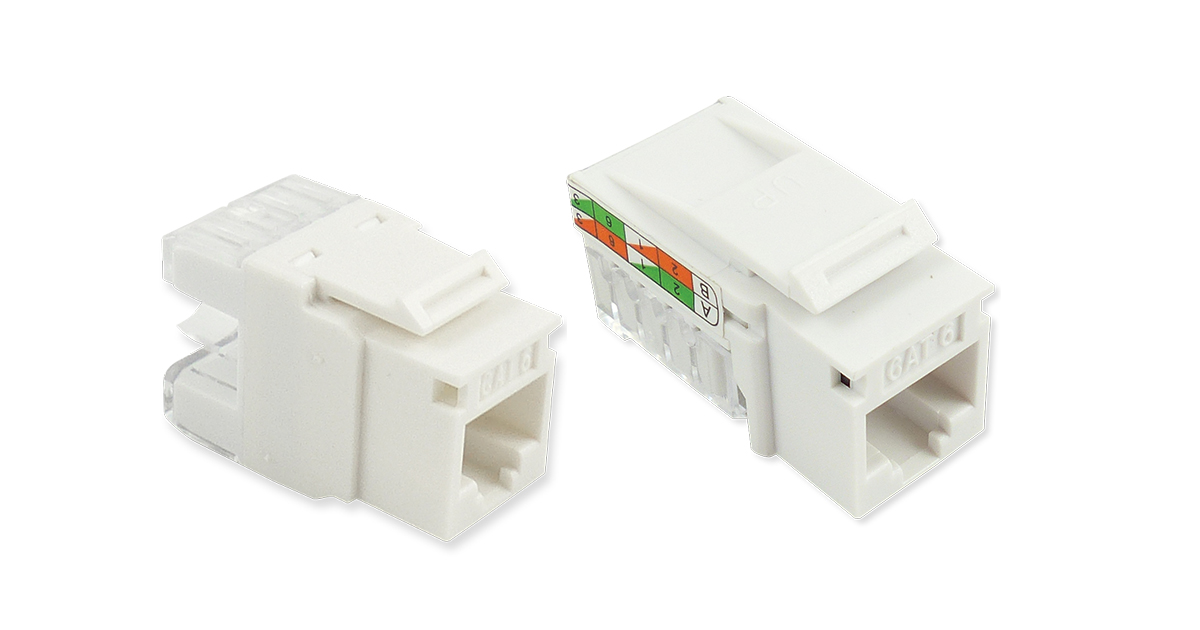Cat6 Jacks – 90 – 180 UTP Keystones