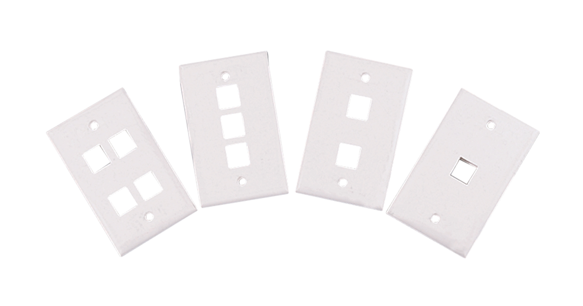Wall Plates – Single-Gang, 1-4 Port