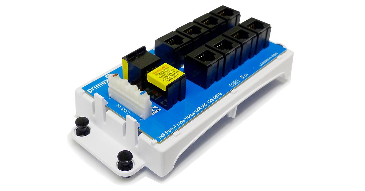 8-Port 4-Line Voice Module w/RJ45
