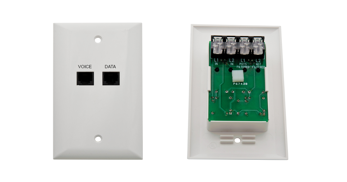 Tool-less xDSL Flush Mount Splitter